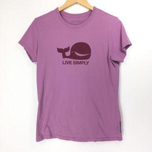 Patagonia Large TShirt Live Simply Whale Purple